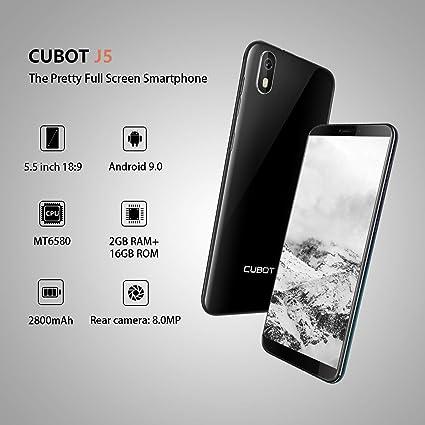 J5 CUBOT Smartphone Libre 2019 Android 9.0 Teléfono móvil 3G sin ...