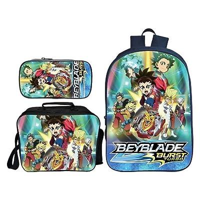 Beyblade Burst Mochila Bolsa de Mensajero for niños + Estuche Combinado Paquete for niños Impreso C (Color : A): Equipaje