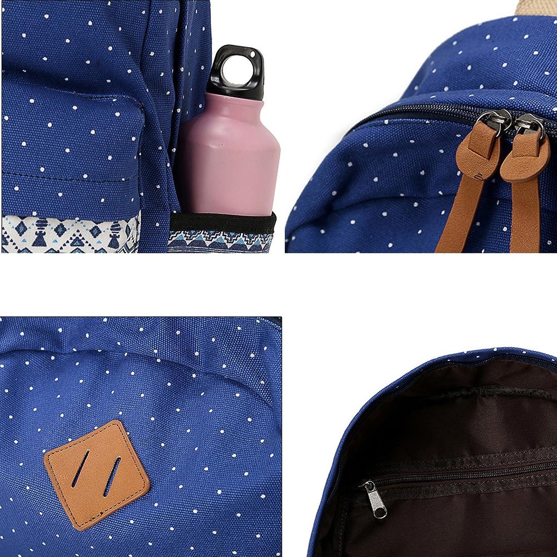 abshoo canvas dot backpack cute lightweight teen