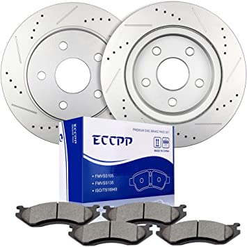 Front and Rear Brake Ceramic Pads For Dodge Durango 2004-2006 Performance