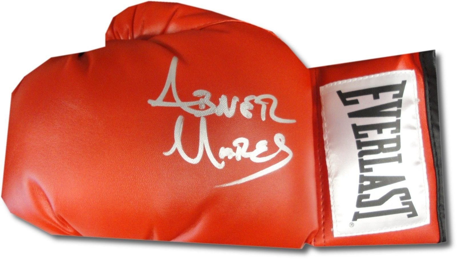 Abner Mares Autographed Everlast Boxing Glove Silver Ink With COA Brand New