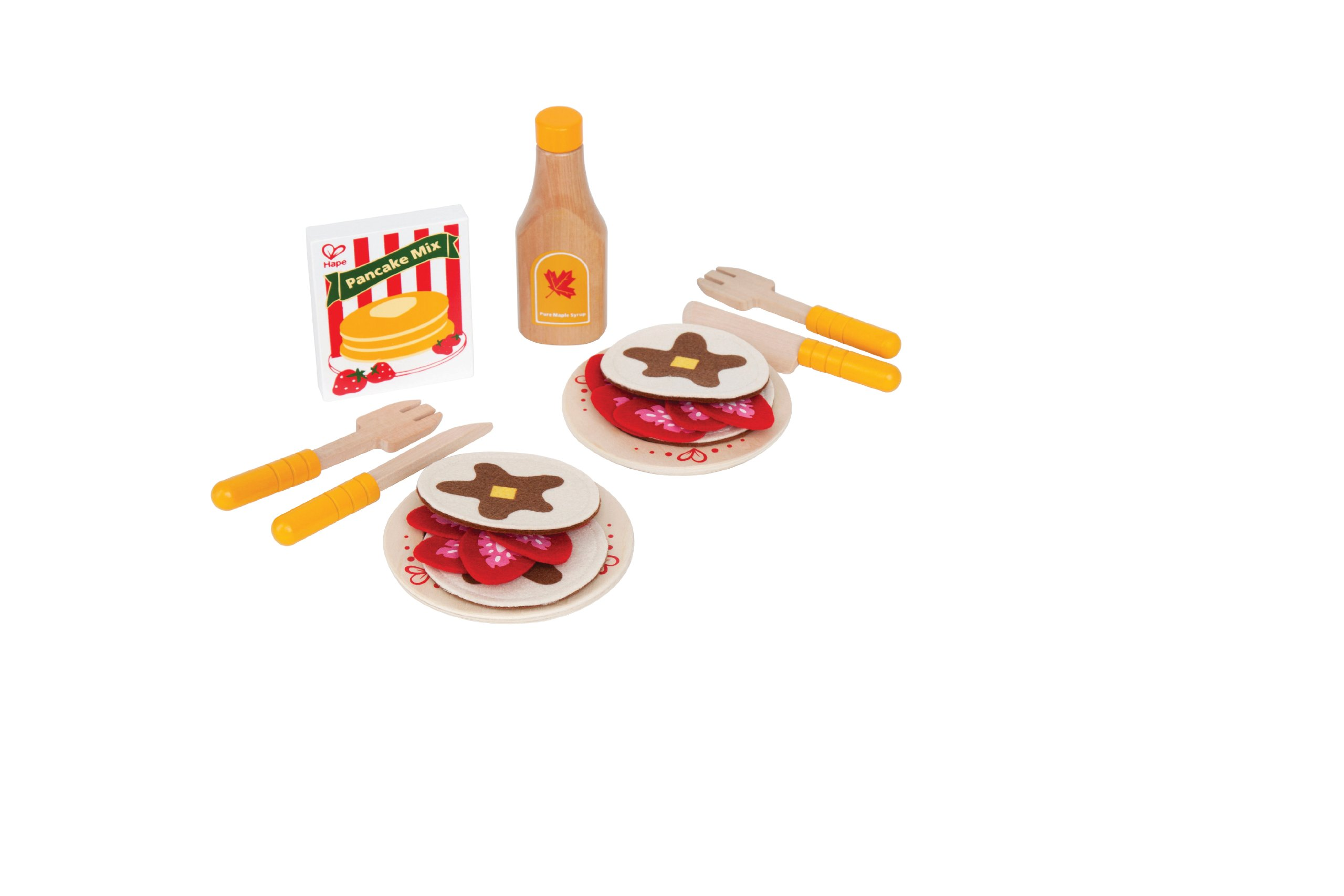 Hape Pancake Breakfast with Strawberries and Syrup Wooden Play Kitchen Food Set and Accessories by Hape (Image #2)