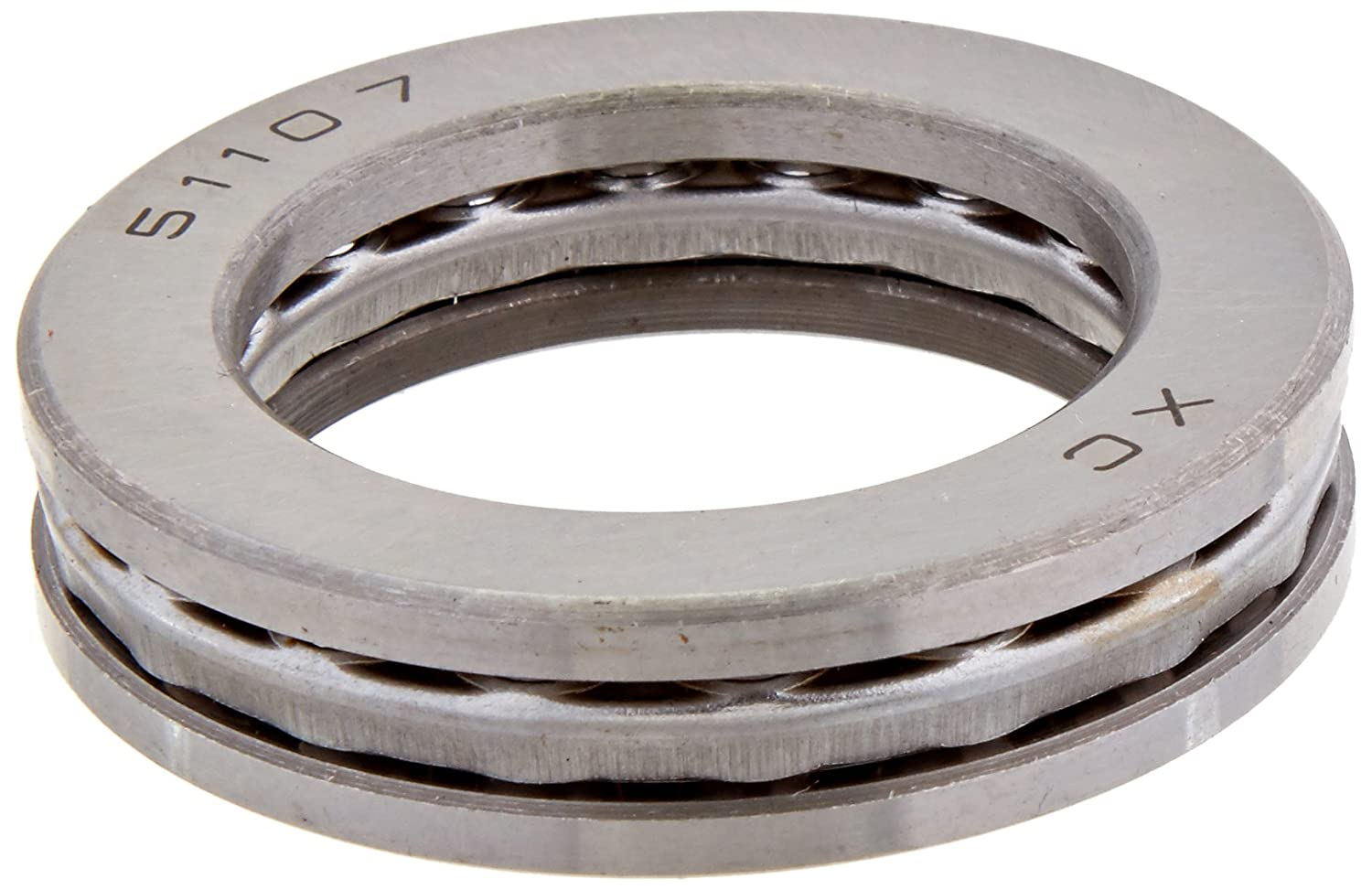 sourcing map Auto 52mm x 35mm x 12mm Carbon Steel Axial Thrust Ball Bearing 51107