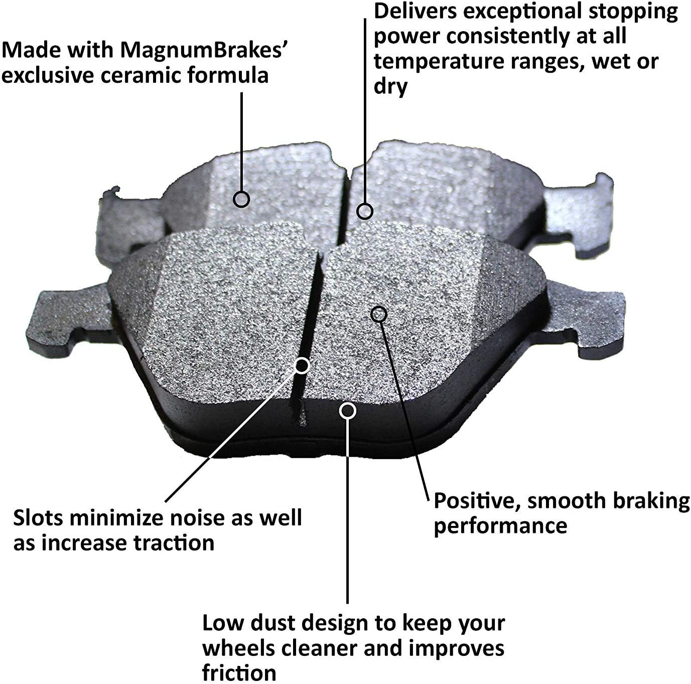 Front and Rear MagnumBrakes Cross Drilled Brake Rotors /& Ceramic Brake Pads for 1996-1999 BMW 328is E36 Coupe