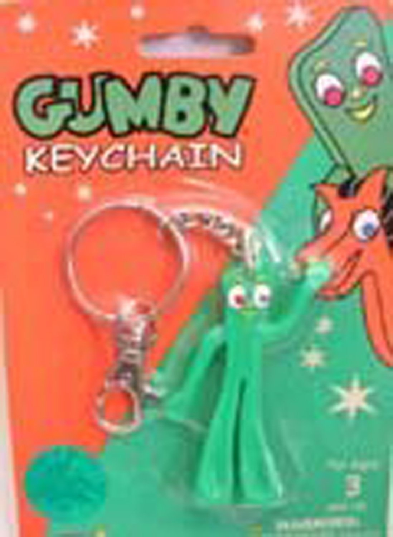 Gumby Cartoon Bendable Character Keychain