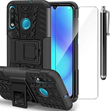 AROYI Funda Huawei P30 Lite + Protector de Pantalla,2 en 1 Duro PC ...