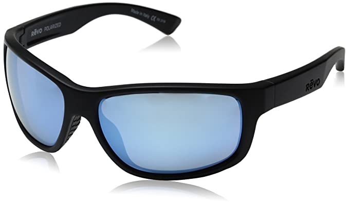 99779b02477 Image Unavailable. Image not available for. Colour  Revo Baseliner RE 1006  01 BL Polarized Wrap Sunglasses ...