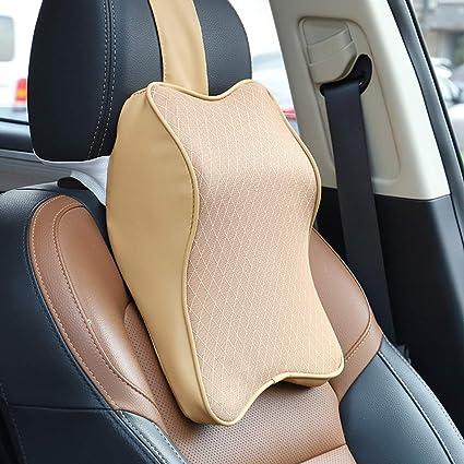 Cervical Support Neck Rest Cushion Headrest Cushion for Neck Pain Relief Memory Foam and Ergonomic Design Car Seat Neck Pillow