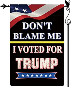Gormcore Dont Blame Me I Voted for Trump Garden Flag America Garden Flag Vertical Double Sided Seasonal Rustic Yard Lawn Outdoor Decor 12.5x18