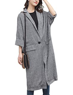 Amazon.com: TOPUNDER Womens Jackets Open Front Trench Coat ...