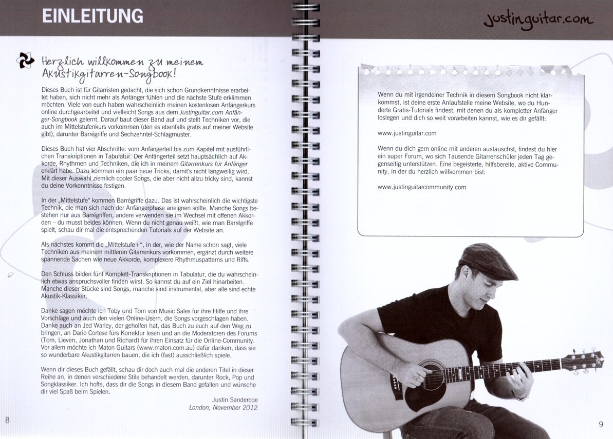 Justin Guitar. com Guitare acoustique Songbook de Justin ...