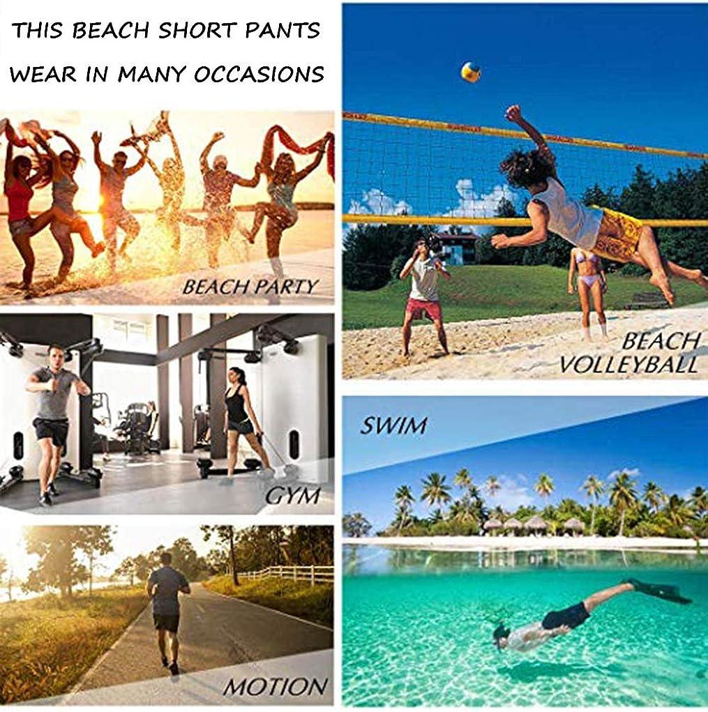 XUJ YOGA Men Beach Swim Trunks Athletic Surfing Shorts Elastic Waistband Swimwear