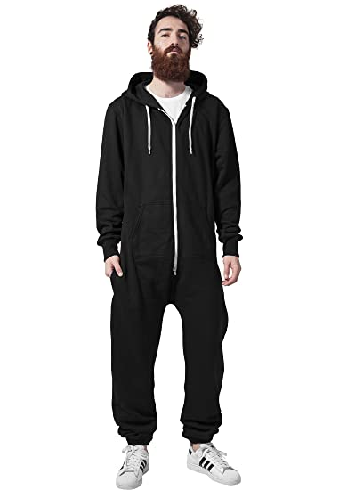 Black Zippered One Piece Hoodie Streetwear Adult Onesie Casual Fashion Men  or Women a16d00877
