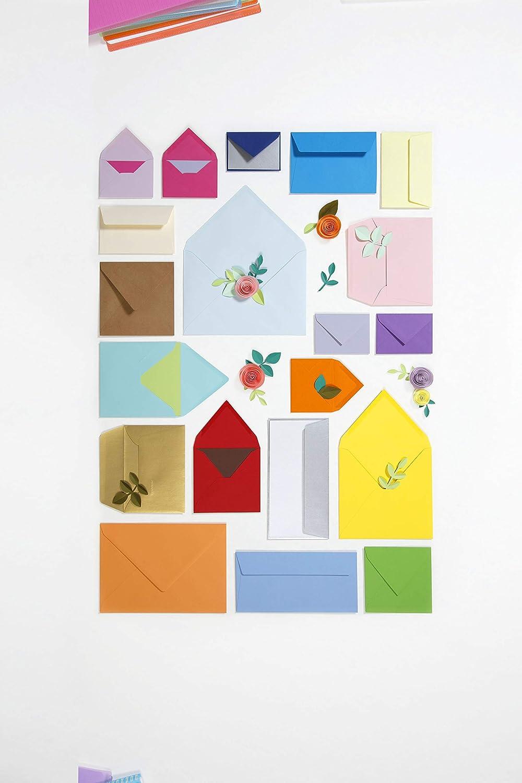 21 x 29,7cm Clairefontaine 4212C Packung mit 50 Karten Pollen 120g Kirschrot DIN A4