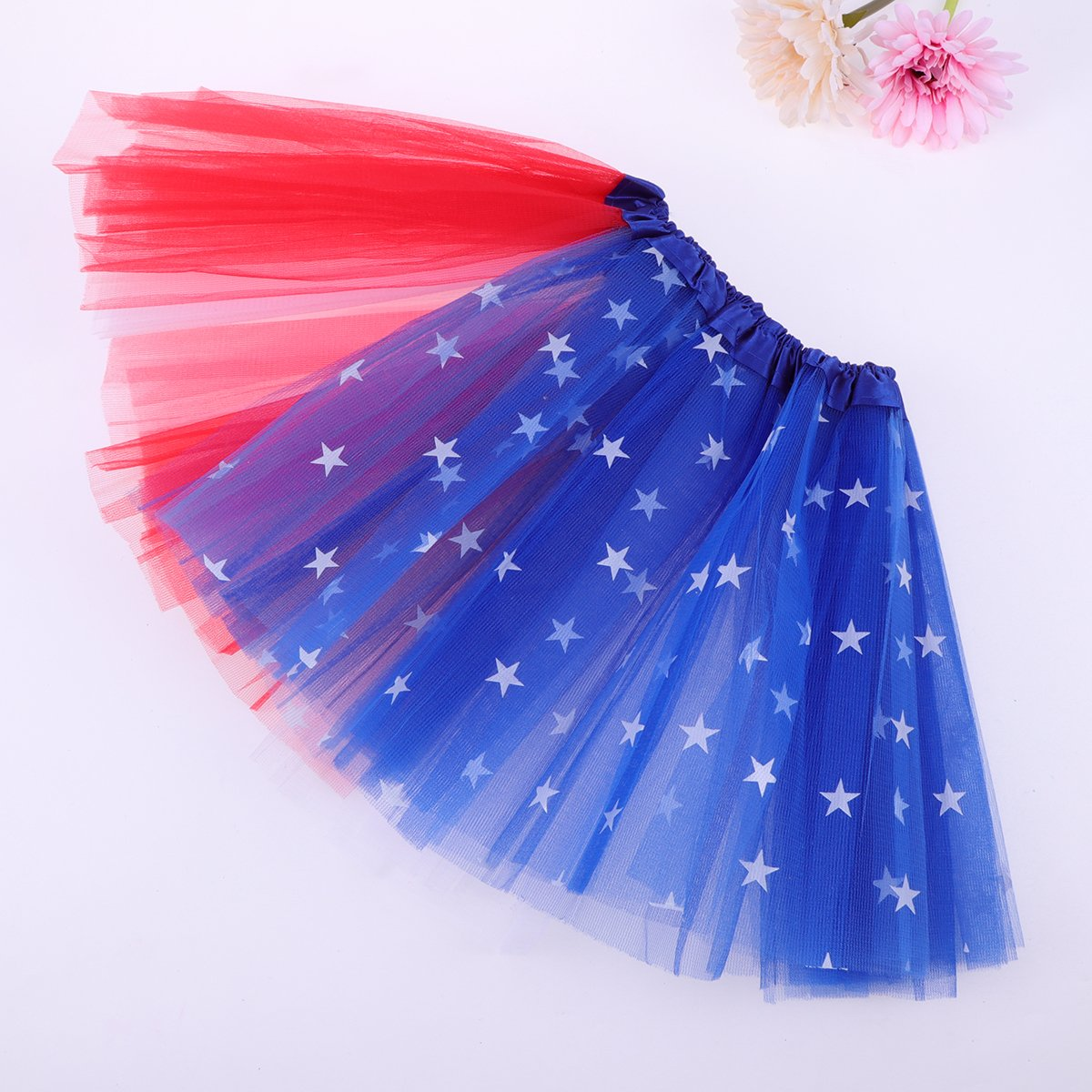 Tinksky Girls Tutu Skirt Fairy Princess Costume American Flag Tutu for Fourth of July Independence Day