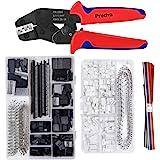 Crimping Tool Kit, Preciva Dupont Ratcheting Crimper Plier Set with 1550PCS 2.54mm Dupont Connectors and 460pcs 2.54mm JST-XH