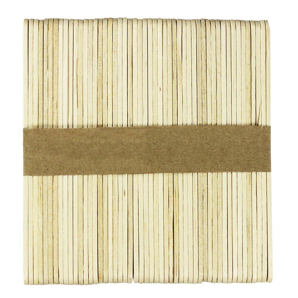100 piezas COM-FOUR/® 100 palos de madera para helados paletas y artesan/ías cakepops 11 x 1 cm