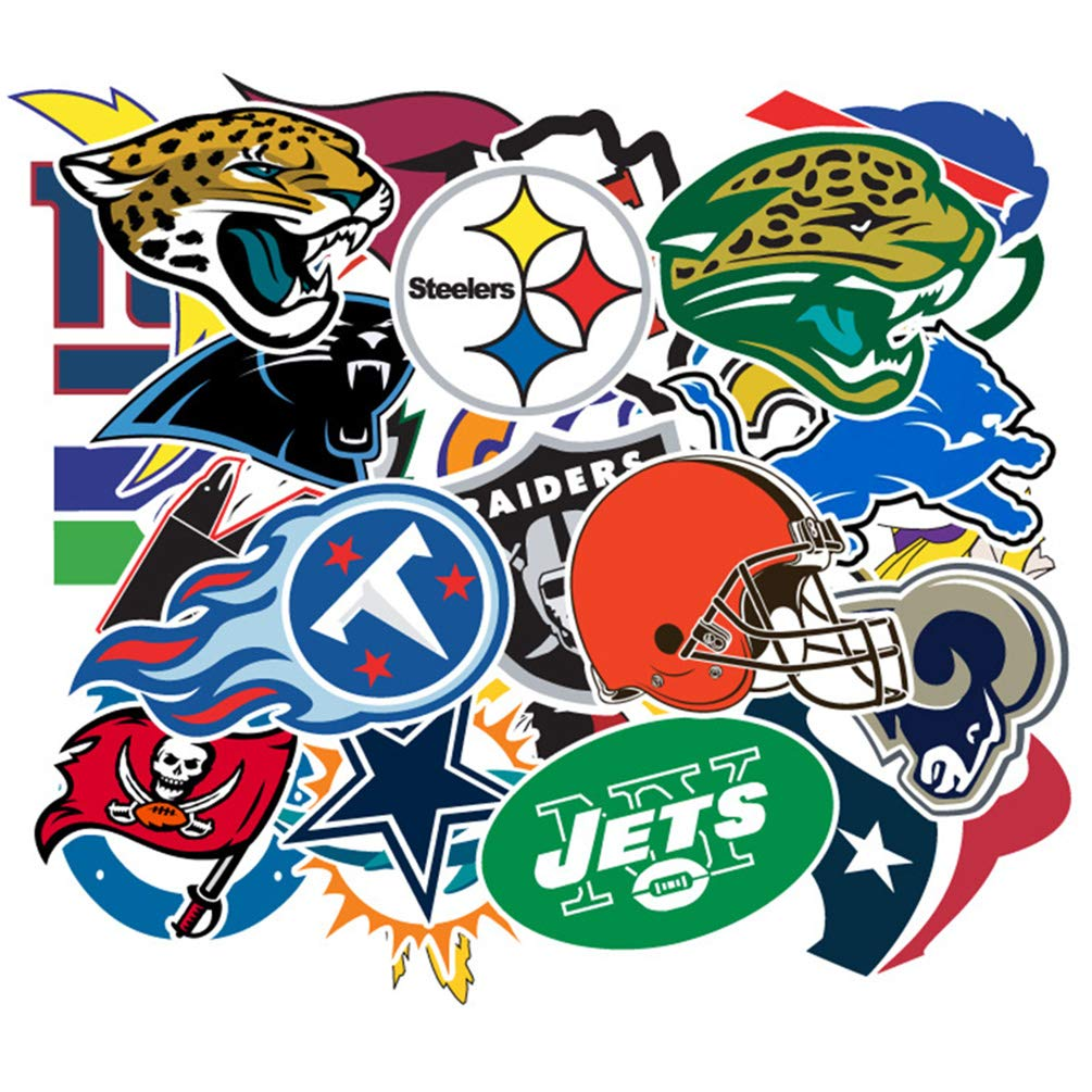 Football Sports Laptop Stickers Cool Vinyl Waterproof Skateboard Pad Car Snowboard Bicycle Luggage Decal 32 pcs Pack