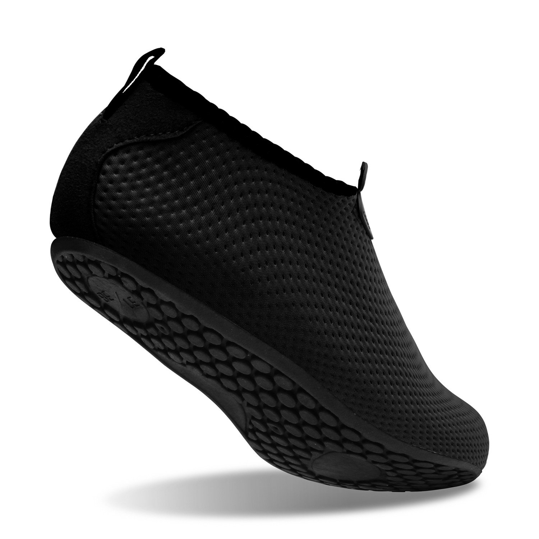 Amazon.com | L-RUN Water Sports Skin Shoes Aqua Socks For Beach Black XL(W:10-11, M:7.5-8.5) M US | Water Shoes
