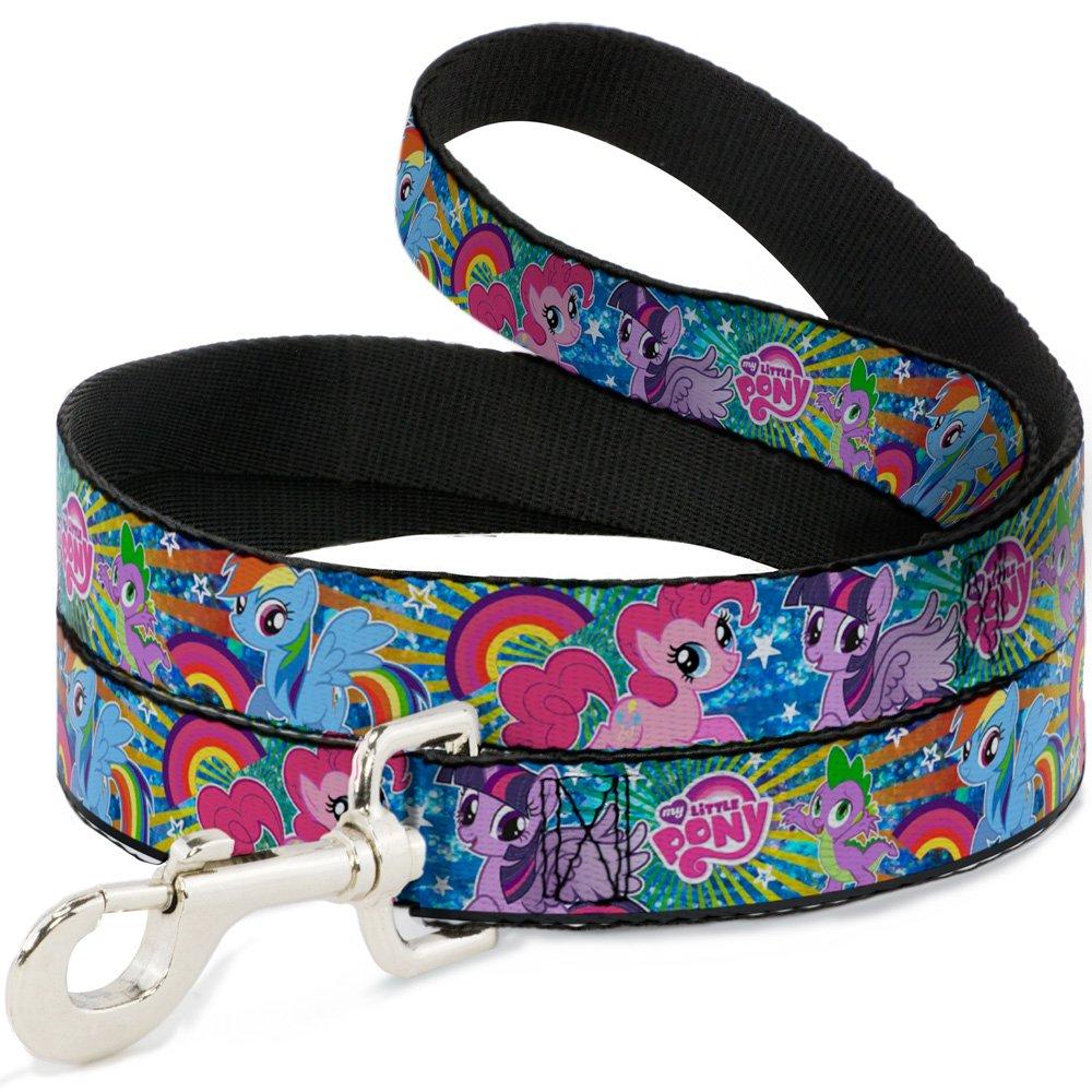6'-1\ Buckle-Down Three Ponies & Spike Sunburst & Stars bluees Multicolor  Pet Leash, 6'-1