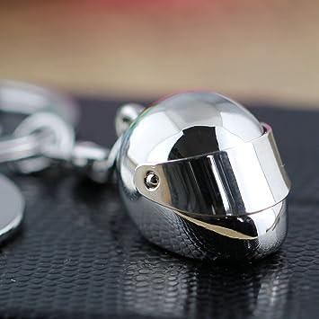 tuqiang® Creativo motocicleta Movable persiana casco de bicicleta coche clave cadena anillo llavero llavero