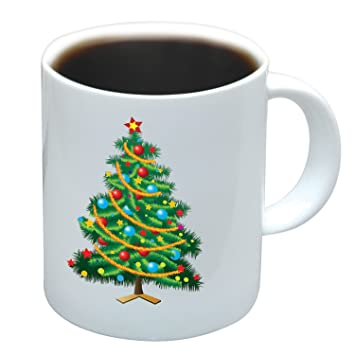 amazoncom magical color changing christmas tree mug christmas coffee mugs coffee cups mugs - Christmas Coffee Cups