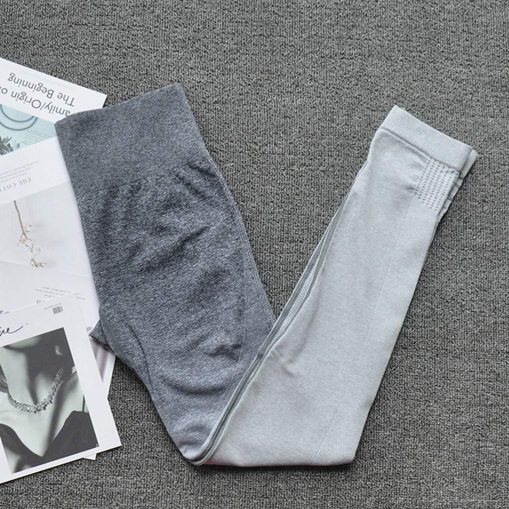 stoertuy Two-Piece Women's Yoga Stretch Tights Sportswear Suit, Fitness Leggings Obercher Seamless Crop Jersey Suit by stoertuy