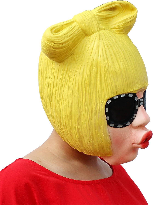ZhuYiCheng Máscara de látex de Halloween, Peluca Divertida de Fiesta de graduación, Lady Gaga, Accesorios de Cosplay: Amazon.es: Hogar