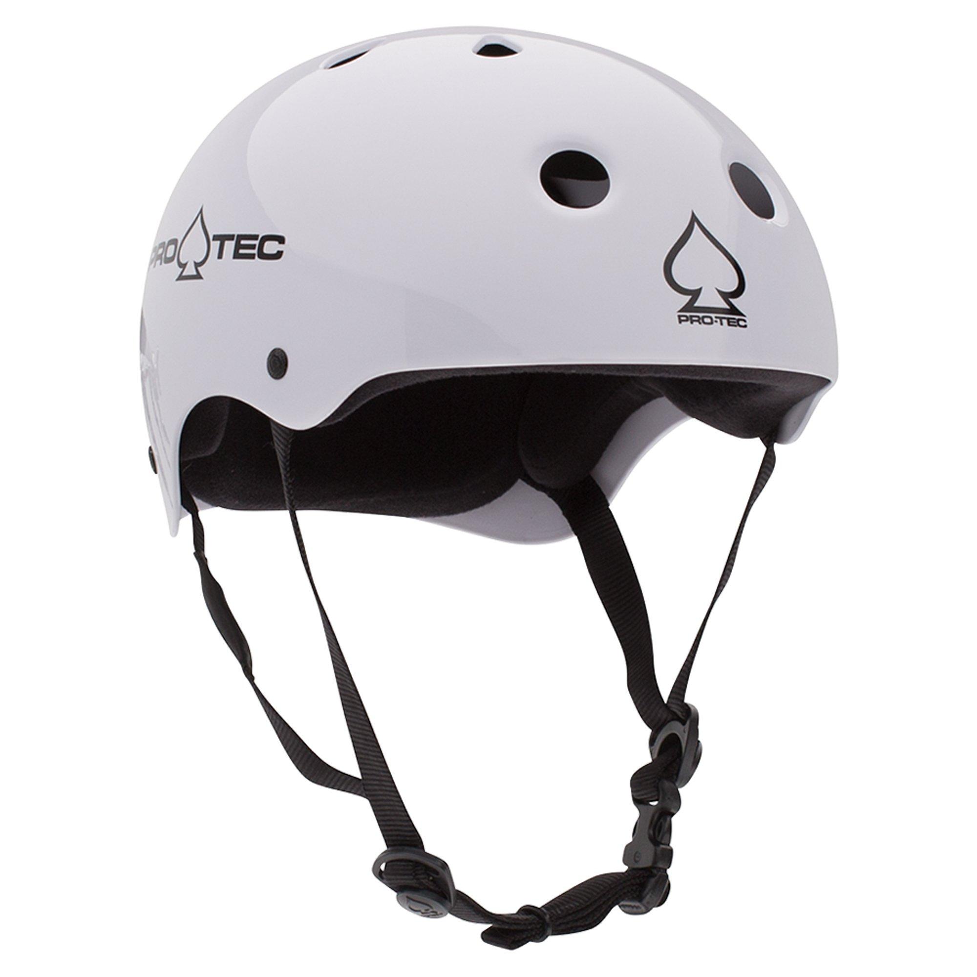 Pro-Tec Classic Skate Helmet, Gloss White, Medium