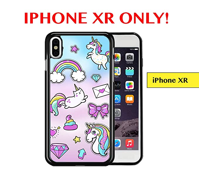 Amazon Com Iphone Xr Case Cute Girly Colorful Unicorn Cat