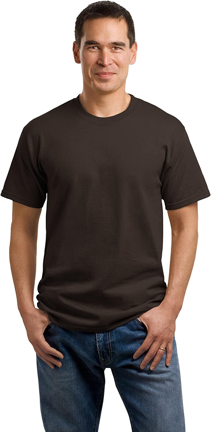 Medium 5.4-oz 100/% Cotton T-Shirt Dark Chocolate Brown Port /& Company/®