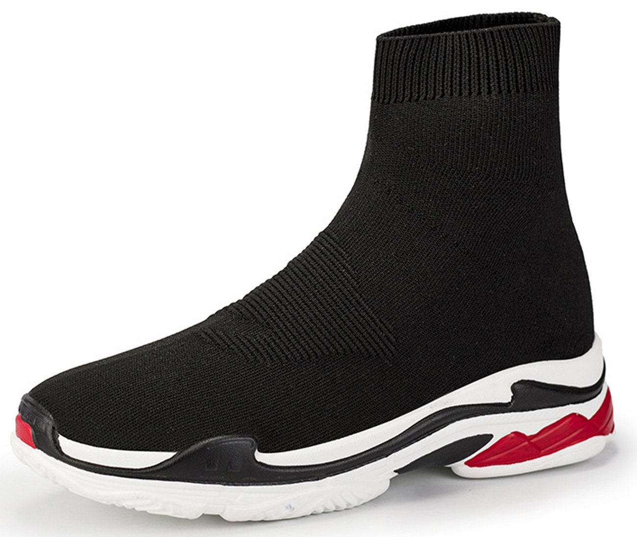 NEWCOLOR Mode Unisexe B074KGYK8Q Slip-on Haute Tricot Coupe Marche Mocassins Formateurs Confort Couple Mocassins Chaussures Tricot Gym Baskets Noir Rouge 28a3d62 - automatisms.space