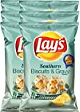 Lay's Southern Biscuits & Gravy & Lay's Flavor All-Stars Smoked Gouda & Chive & Lay's Chicken & Waffles 2.75 Oz (Southern Biscuits Gravy, 6)