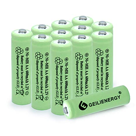Amazon.com: BAOBIAN AA 600mAh 1.2V NiMH Baterías recargables ...