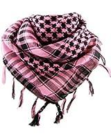 *** PROMOTION *** Foulard Palestinien - Keffieh - Chèche - Pashmina - Rose et Noir