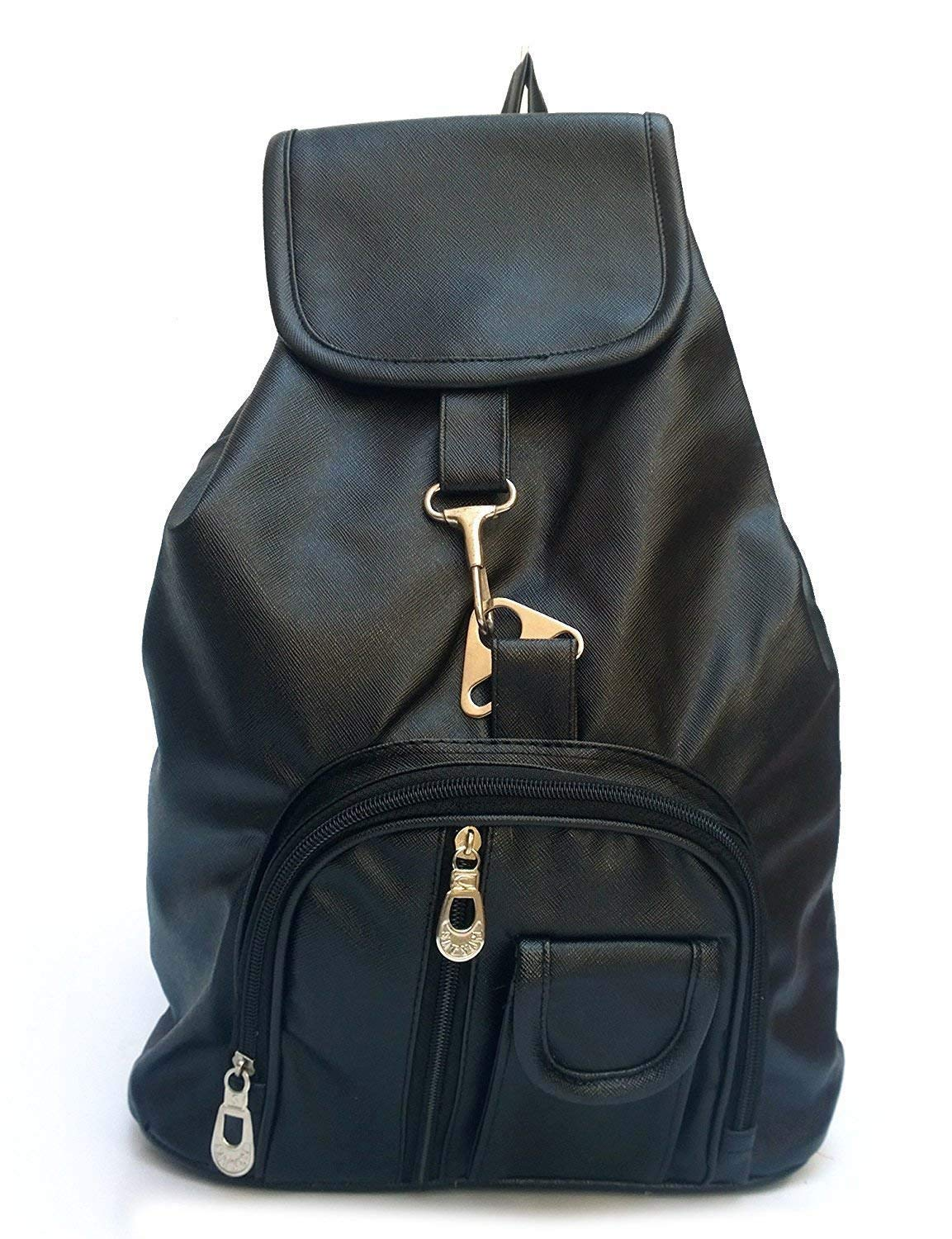 4ad53a85b00 Vintage Stylish Girls Synthetic School   College Bag (In Four Colors)(Bag R  124) (Black)  Amazon.in  Bags