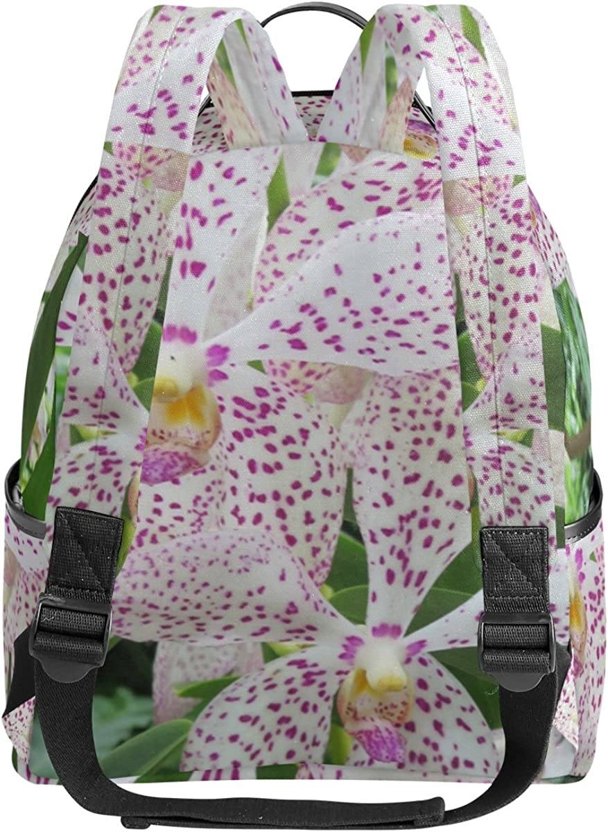 Mr.Weng Orchid Printed Canvas Backpack For Girl and Children