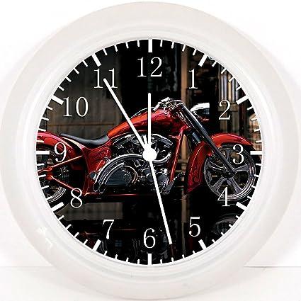Reloj de pared nueva Yamaha motos 25,4 cm se color y para pared W62