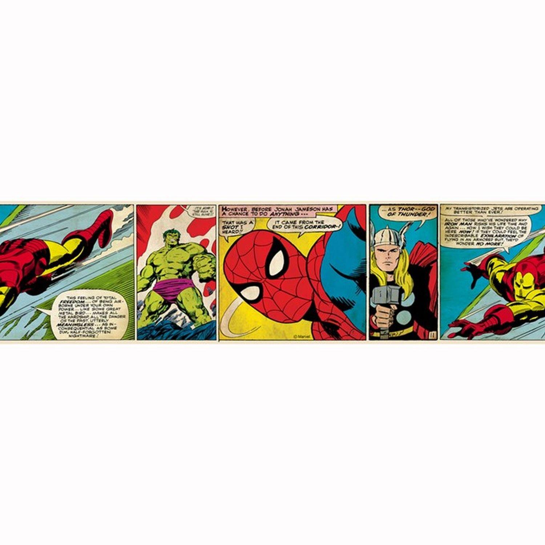 Amazon Com Marvel Comics Self Adhesive Wallpaper Border Baby