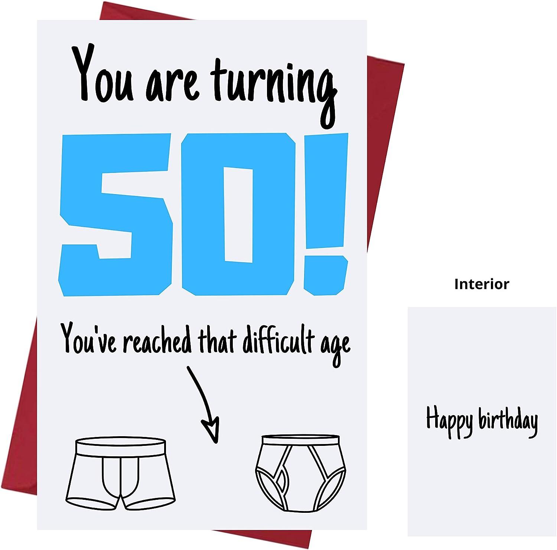Amazon Com Funny Offensive Rude Sarcasm 50th Birthday Cards For Men Friends Boyfriend Husband Dad Offensive Birthday Cards 50 Years Old Offensive Rude Sarcasm Birthday Cards 50th Anniversary Office Products