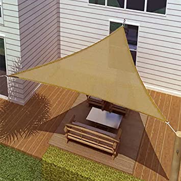 New ProSource Sand Color 16u0027 Oversized Sun Shade Sail Shade Canopy Sun  Shelter