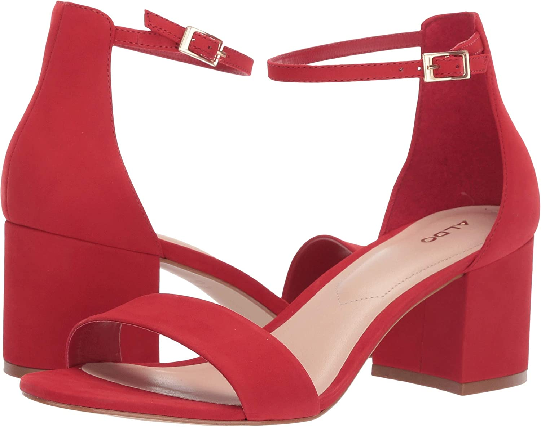 Red Nabuck Aldo Women's Villapink Heeled Sandal