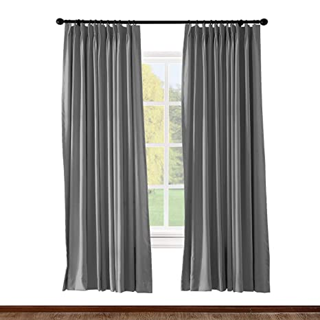 Amazon Com Chadmade Pinch Pleated Curtain 100w X 84l Inch Solid