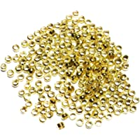 Homyl 1000x 2mm Metal Crimp Beads End Spacers Findings for Jewelry Making Beading