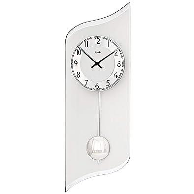 Reloj De Pared - AMS baduhr cuarto de baño Radio Reloj de pared radiocontrolado, color plateado redondo impermeable: Amazon.es: Joyería