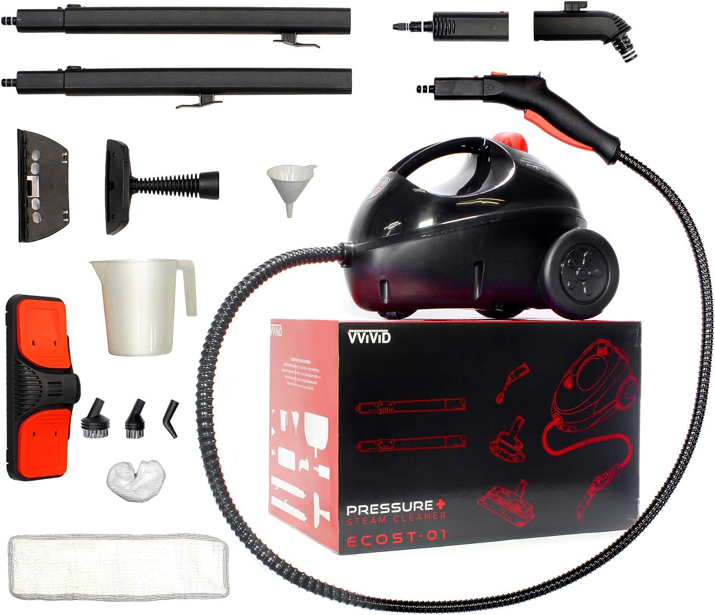 VViViD ECOST-01 Pressure+ Steam Cleaner, Black