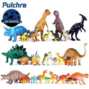 6pcs Large Assorted Dinosaurs Toy Plastic Figures Simulation Model Dinosaur