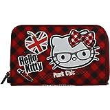 Hello Kitty Vichy Damen Geldtasche Geldbörsen Geldbeutel Portemonnaie