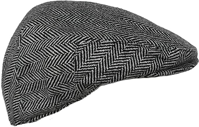 dcdffd901e2 Wool Blend Herringbone Winter Ivy Scally Cap Flat Driver Hat 5 Point  Newsboy at Amazon Men s Clothing store
