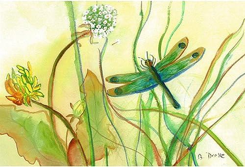 Betsy Drake Coastal Dragonfly Door Mat, 30 x 50